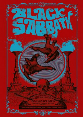 BLACK SABBATH- THE END RED - canvas print - self adhesive poster - photo print